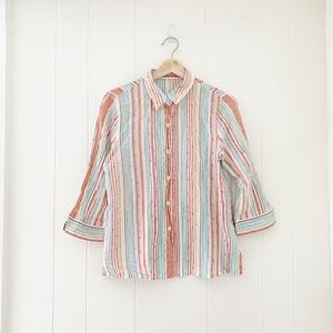Tops - Seaside striped button down blouse